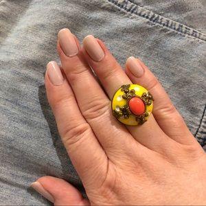 Yellow Anthropologie Vintage-look Ring
